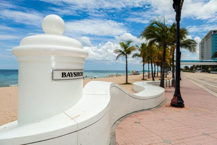 Scenic Fort Lauderdale Beach along Beach Boulevard photo via Depositphotos