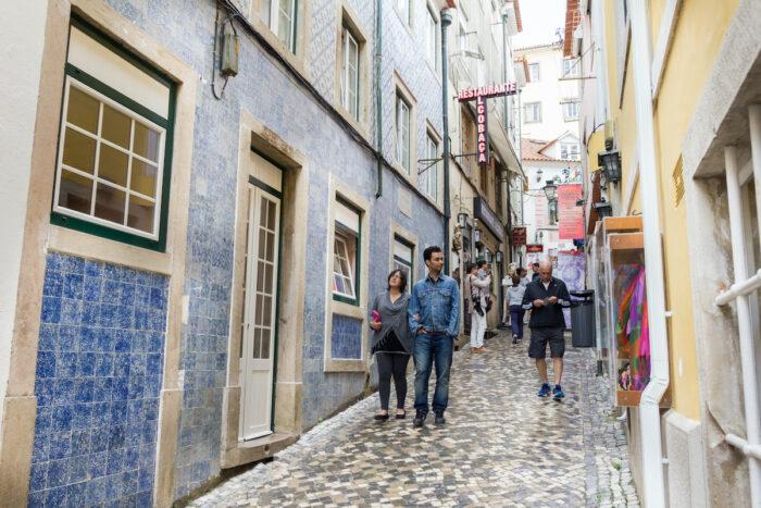 Rua das Padaria in the center of Sintra photo via Depositphotos