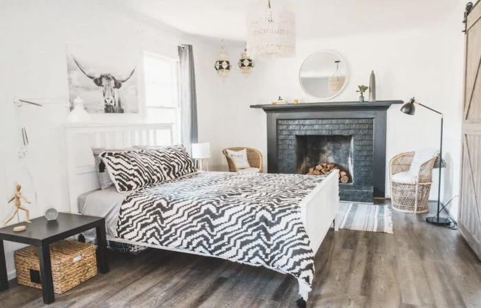 Boho Suite Cary Airbnb with Living Room and Private Entrance