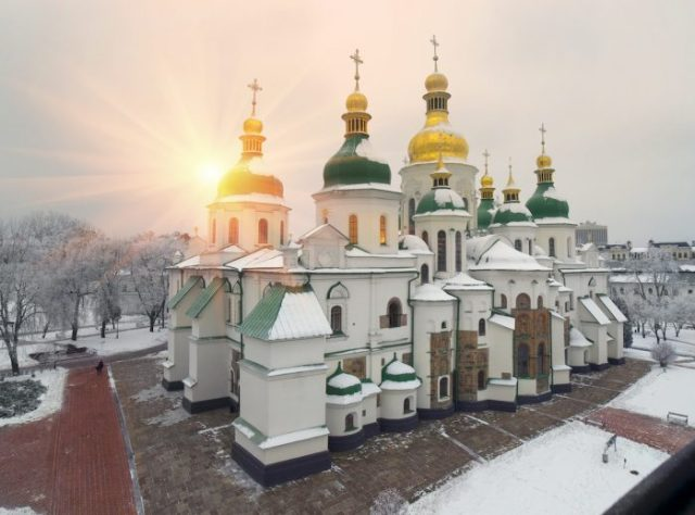 Hagia Sophia in Kiev photo via Depositphotos
