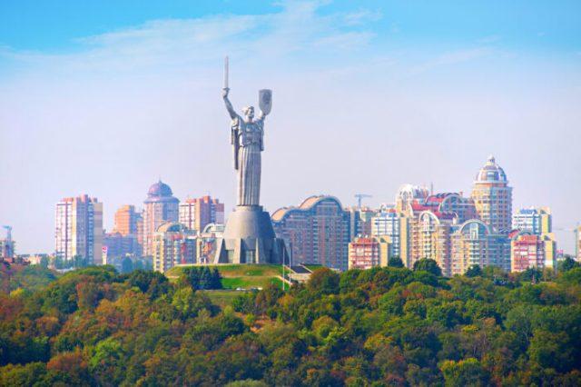 Motherland monument. Kyiv, Ukaine via Depositphotos