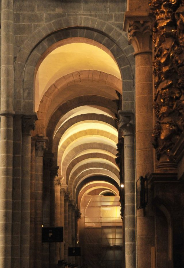 Arches above one of the naves.