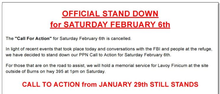 Stand down for the Feb 6