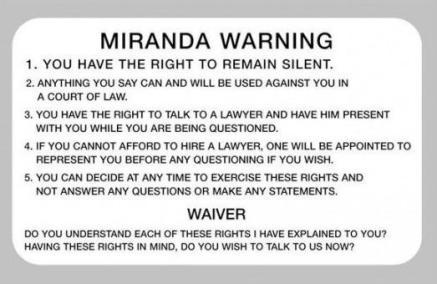 Miranda wording