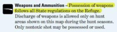 Malheur weapons notice