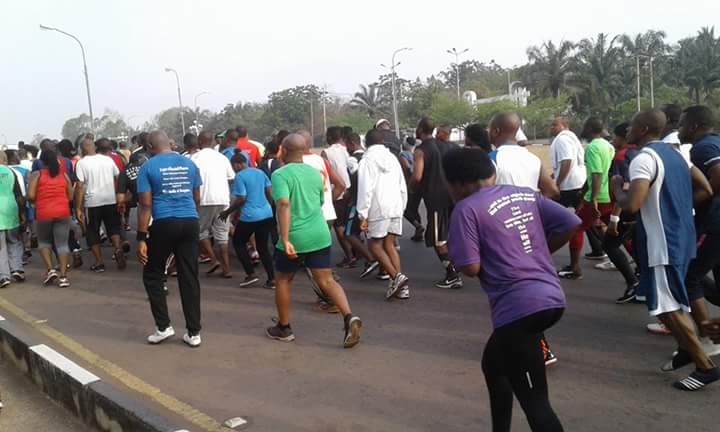 saturday morning workout in Okpara Square Enugu