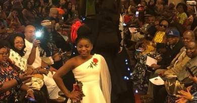 At New York City, USA. Made In Aba Fashion Show