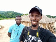 Abiola and I at the fulani settlement