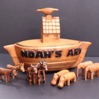 Wood Carving Noah's Arc