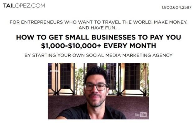 Social Media Marketing Agency Training Program by Tai Lopez