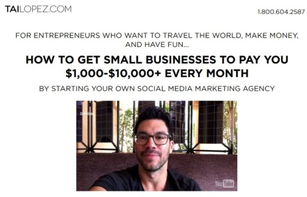 Social Media Marketing Agency Training Program by Tai Lopez