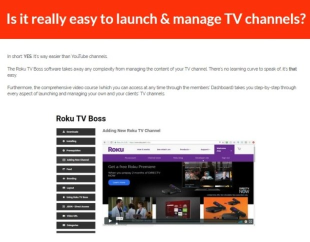 Roku TV Boss TV Platform Software by Dr Alex Davidovic