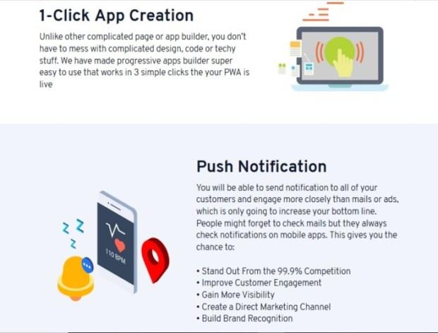 Progressive Apps Builder Software by Saaransh