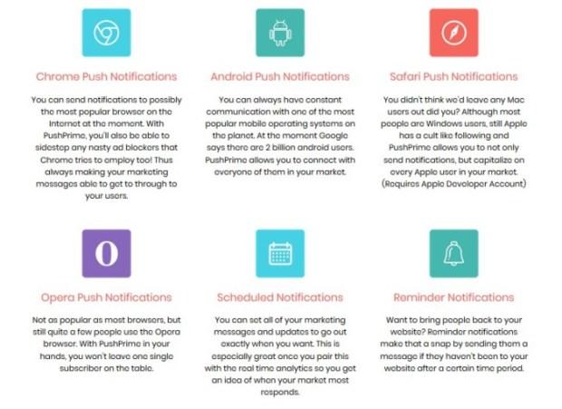 PushPrime Push Notification Software Oto   JVZOO RESEARCH