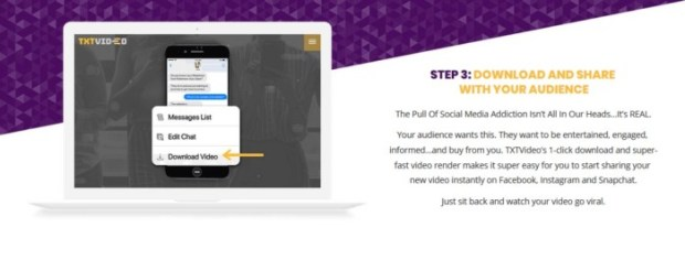TXTVideo Text-Story Videos Software And OTO Upsell by Jamie Ohler DropMock