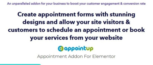 AppointUp Appointment Addon For Elementor Software by Neeraj Agarwal