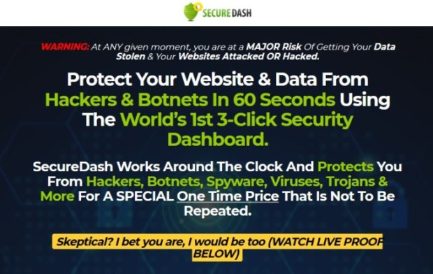 SecureDash PRO Security Dashboard Software | JVZOO RESEARCH
