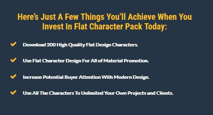 2019 Flat Character Pack With PLR License by Rustam Sandegi