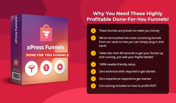 XPress Funnels Done For You Funnels GOLD PRO Upgrade OTO Software by Glynn Kosky