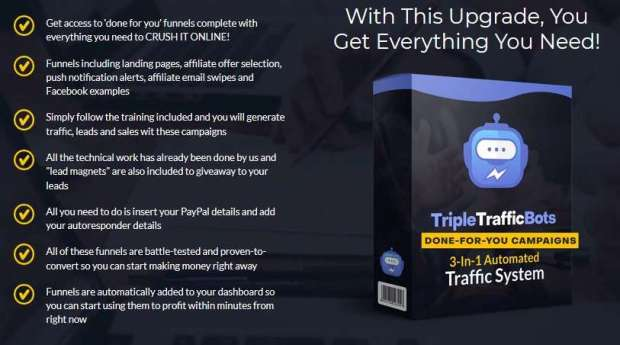 TripleTrafficBots Done For You Campaigns | JVZOO RESEARCH