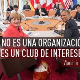 Putin: G-7 é um clube de interesses