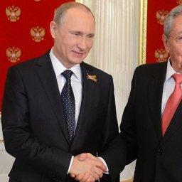 Vladimir Putin, parabeniza líder cubano, Raul Castro, por seu aniversário