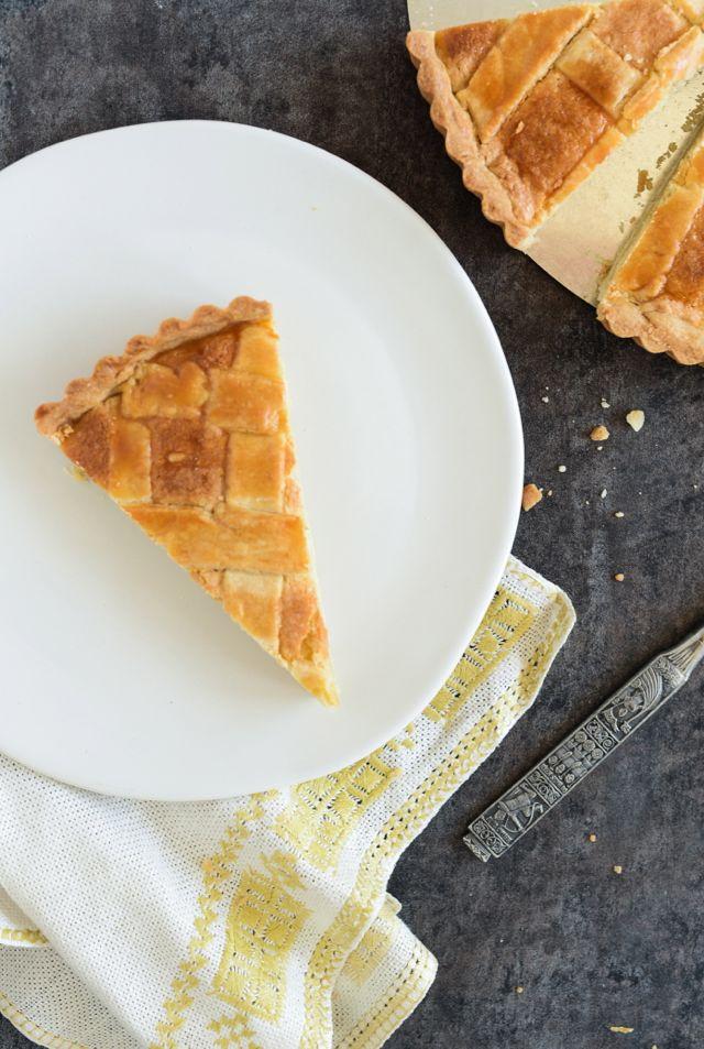 Fyrstekake Slice on Plate with Crumbs