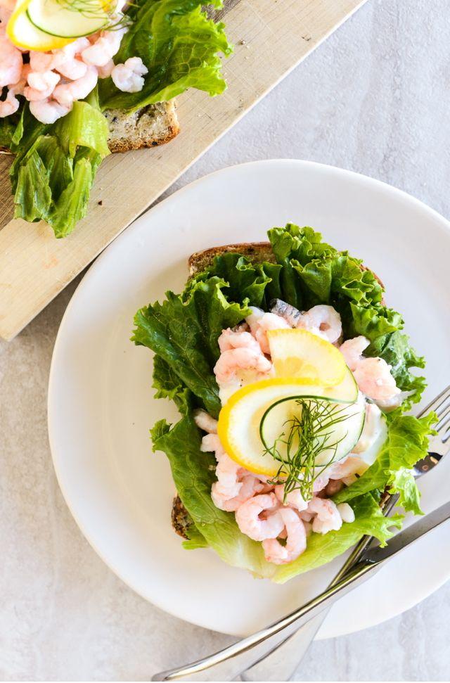 Shrimp Smørrebrød Vertical