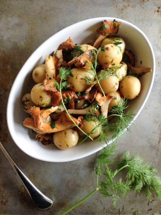 Chanterelles and Potatoes - IMG_9893