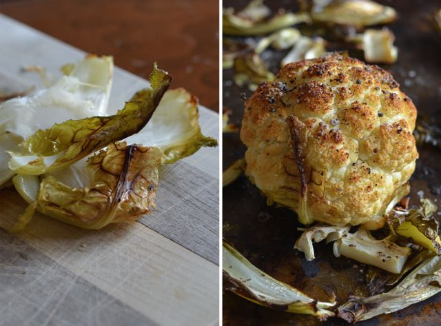 Roasted Cauliflower Diptych