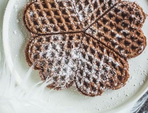 Chocolate Rye Waffles