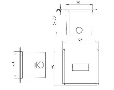 Aplique para señalización exterior y balizamiento
