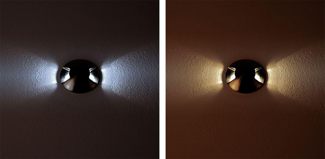 Baliza led empotrada en suelo con iluminación indirecta
