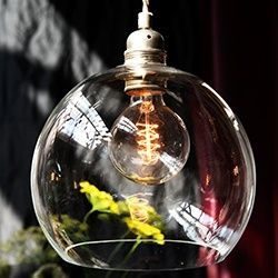 Lámparas artesanales de cristal