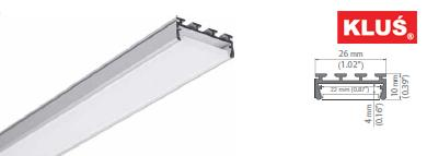 Perfil de aluminio para tiras led GIZA