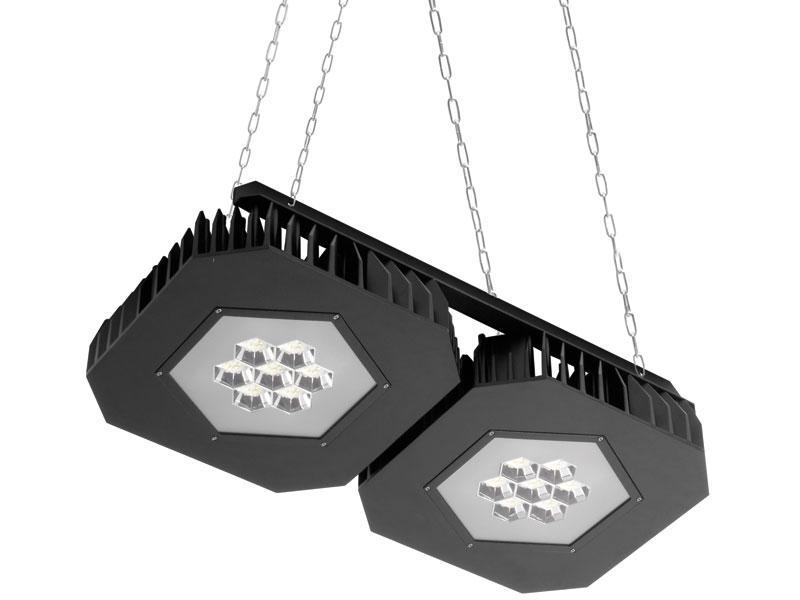 Lámpara LED suspendida Grafias doble