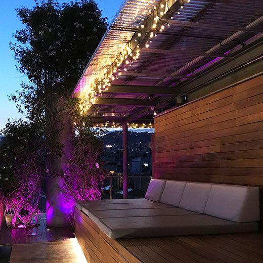 guirnalda led terraza