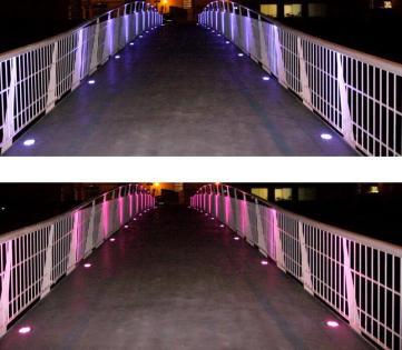 Iluminación exterior obra publica