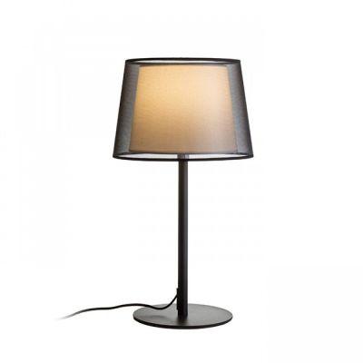 Lámpara de mesa con pantalla textil