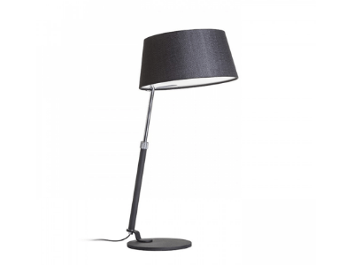 Lámpara de mesa con pantalla textil modelo Ritzy Mesa. Luces salón. Luces habitación.