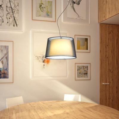 Lámpara de techo Esplanade pendant con doble pantalla textil