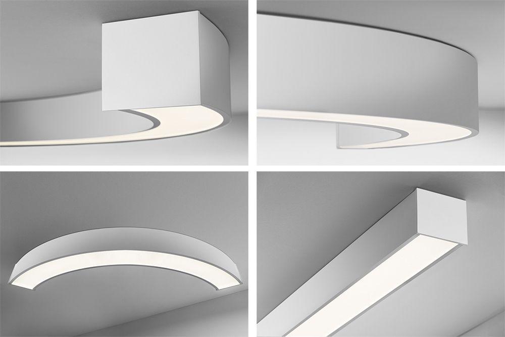 Lámpara led lineal curva