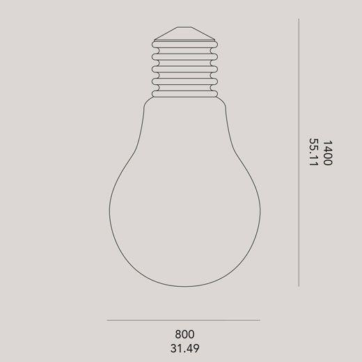 Medidas lámpara exterior decorativa