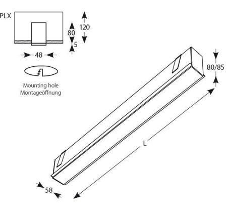 led lineal empotrado