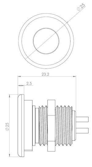 Medidas Mini foco LED empotrado exterior Niviss Ground Nano