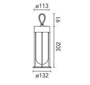 Lámpara recargable y portátil de diseño