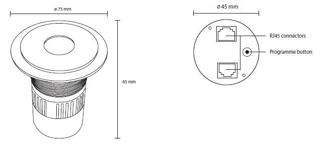 Medidas spot LED RGB LON-GII