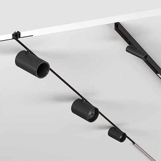 Mini carril para iluminación magnético