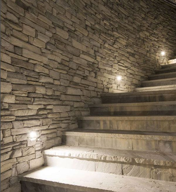 iluminación de escaleras en exterior