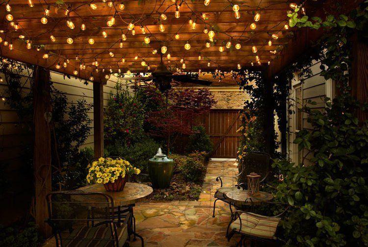 Iluminación ambiente terraza exterior